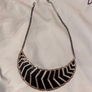 Black and Gold Forever 21 Necklace